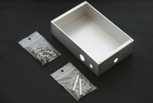 The Sawbench metal casing kit, including LED housings and plugs and all nuts, spacers and bolts.
