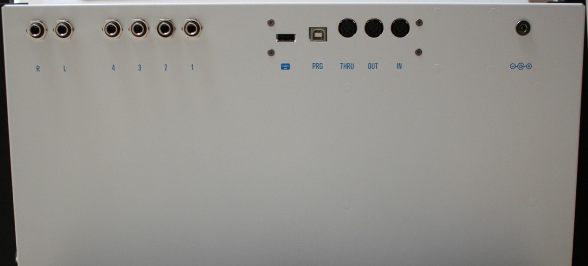 "Back plate of the ST4 when mounted in a 19"" rack."