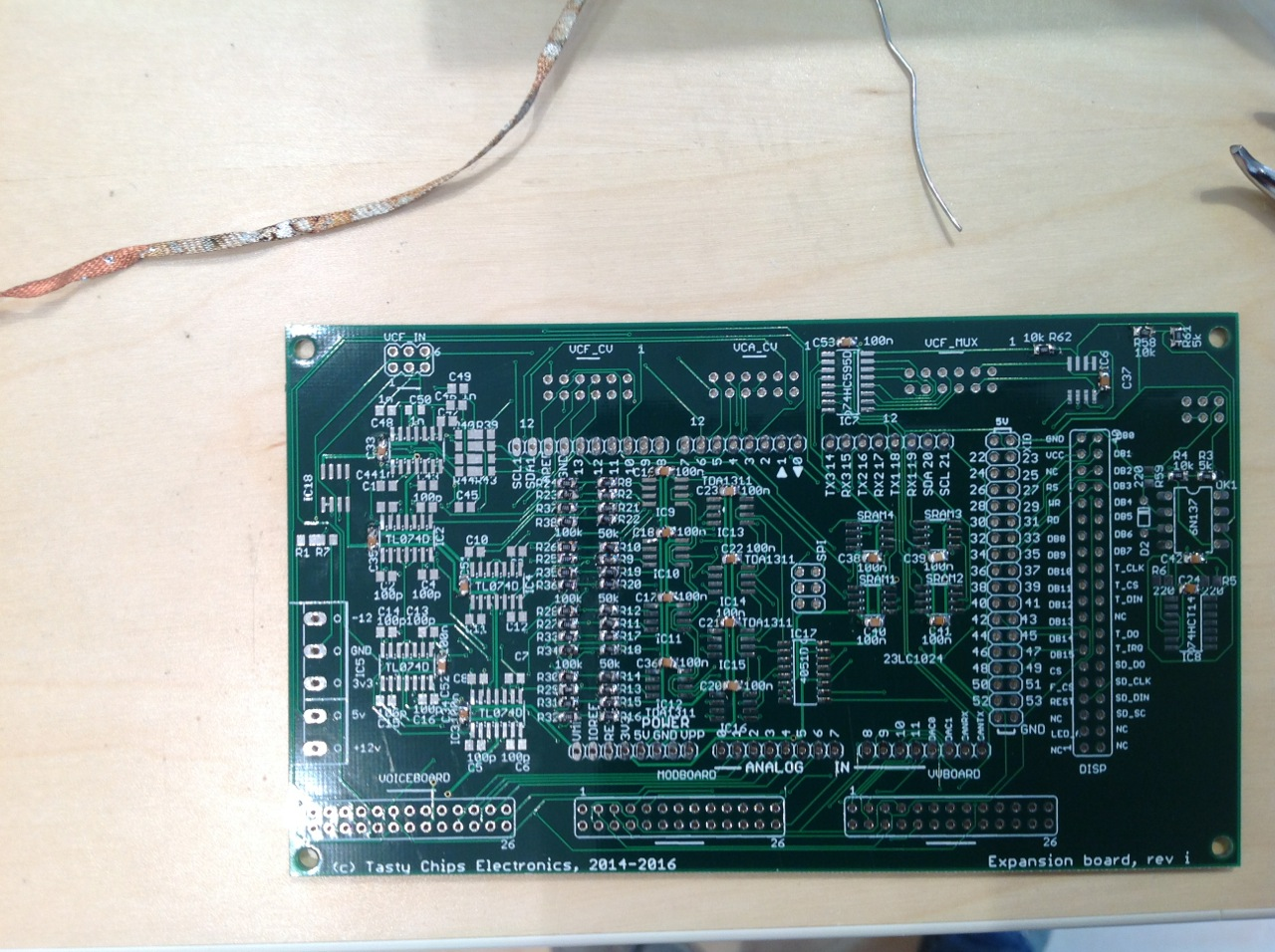 Exp board with 50k 100k and 100n done.
