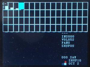 The tracker screen